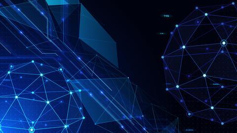 Digital data computer AI technologies concepts Background 5 blue22 CG動画