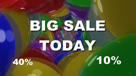 Big sale today, announcement banner with white lettering and flashing animated Animation