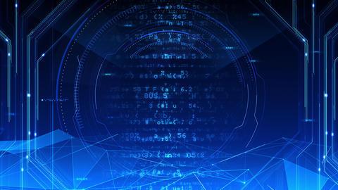 Digital data computer AI technologies concepts Background 5 blue07 CG動画