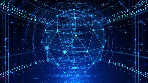 Digital data computer AI technologies concepts Background 5 blue02 CG動画