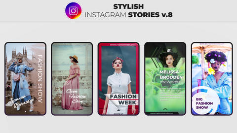 Stylish Instagram Stories v 8 After Effects Template