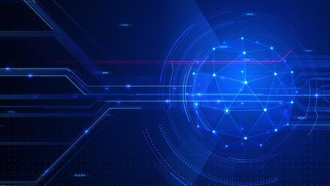 Digital data computer AI technologies concepts Background 5 blue11 CG動画