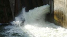 Little Dam In The City, Water Flowing, Foam, River Flowing, Tilt Live Action
