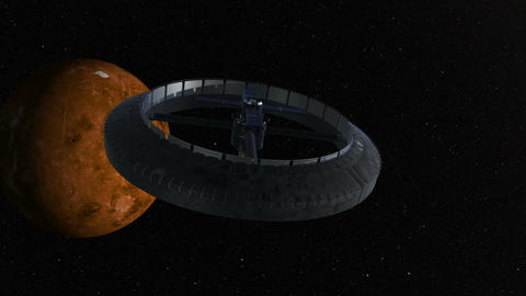 Scifi spaceship 3d animation Stock Video Footage