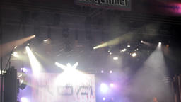 Concert Lights, Bright Reflectors, Summer Festival, Smoke, Stage Footage