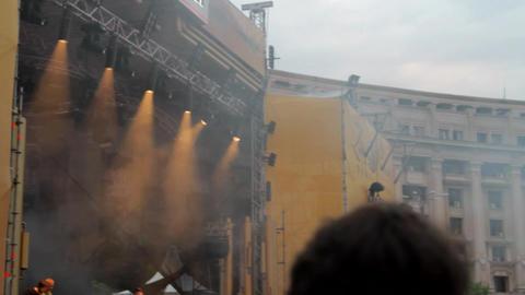 Summer Concert Festival, Artists Performing, Cheering Crowd, People Dancing, Pan Footage