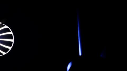 Designer Lamp Post, Futuristic Design, Light In Dark,... Stock Video Footage