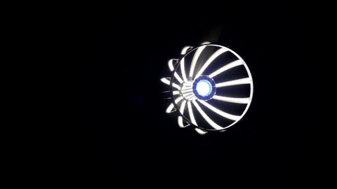 Designer Lamp Post, Futuristic Design, Light In Dark, Energy Saving Lamp, Pan Footage
