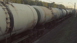 Freight train at sunset Footage