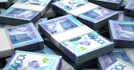 Stack of Kazakh Tenge Animation