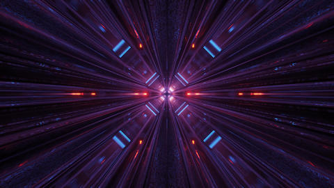 3d illustration motion background of future transportation tunnel corridor stock Animation
