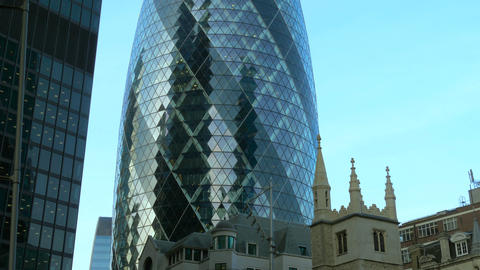 Gherkin Commercial Skyscraper In London Live Action