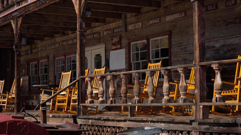 Western Rocking Chairs On Porche Live Action