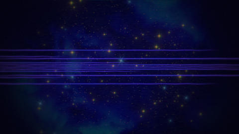 Motion retro blue lines in space, abstract background Animation