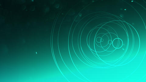 Motion geometric shape with particles in space, abstract background Animation