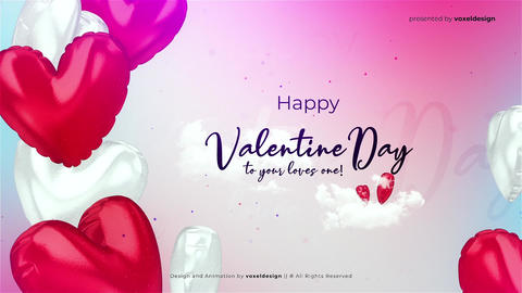 Happy Valentine's Day Opener After Effects Template