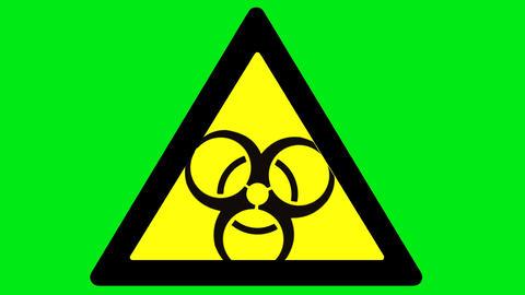 Biohazard substance on green background Animation
