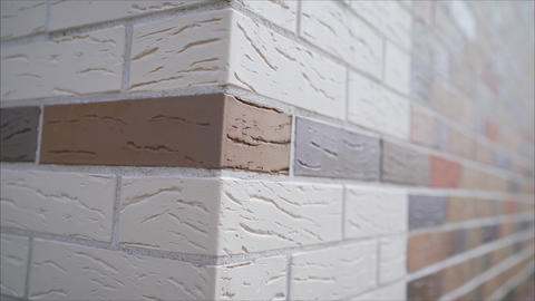 House corner, brick wall painted with white paint. brickwork corner of the house Live Action