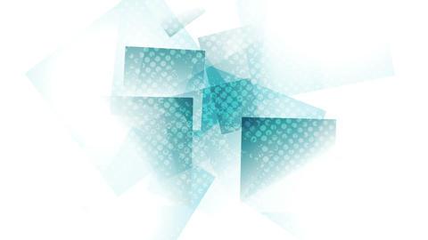 Abstract cyan tech grunge geometric video animation Animation