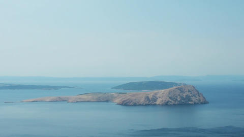 islands off the Dalmatian coast in Croatia Footage