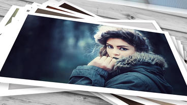 Falling Photos After Effects Template