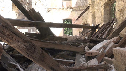 Building Without Roof (2) Stock Video Footage