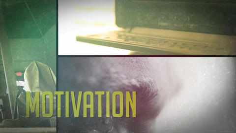 Glitch Motivation Promo After Effects Template