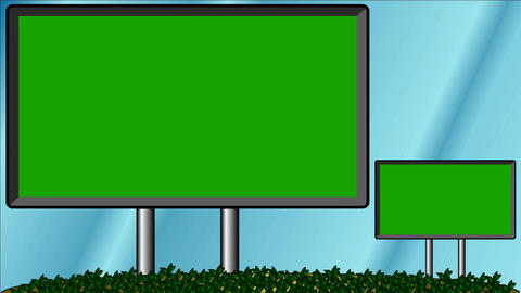 Billboards Move - Chroma Key Screens - Background For Video Editing Animation