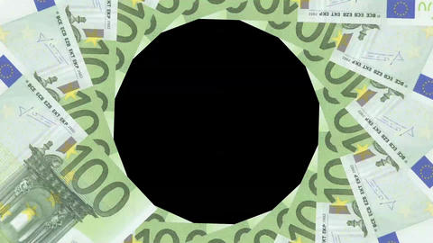 Euro Banknote Transition Aperture Style CG動画素材