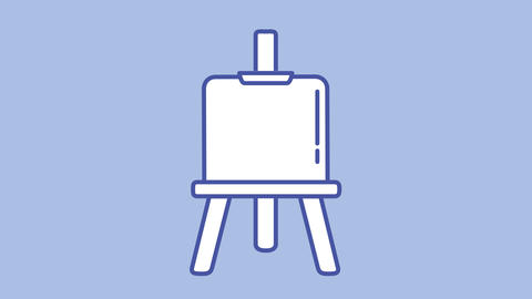 Easel line icon on the Alpha Channel Animation