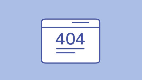 404 error line icon on the Alpha Channel Animation
