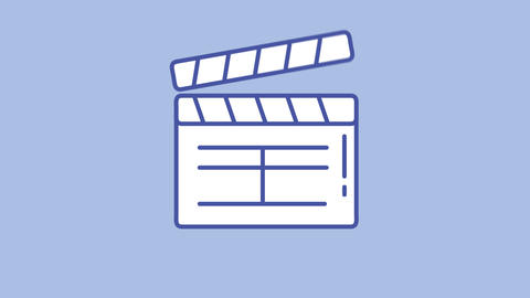 Movie slapstick line icon on the Alpha Channel Animation