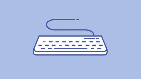 Keyboard line icon on the Alpha Channel Animation
