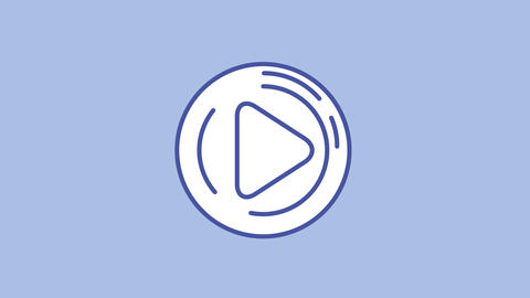 Play button line icon on the Alpha Channel Animation