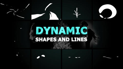 Dynamic Shapes and Lines After Effects Template