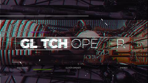 Glitch Opener Premiere Proテンプレート