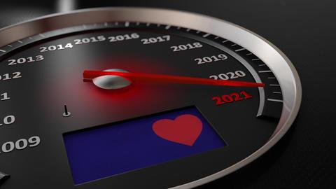 The speedometer Happy Valentines Day GIF