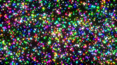 Elegant Colorful Stars Animation