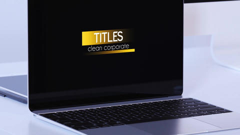 Clean Corporate Titles After Effects Template