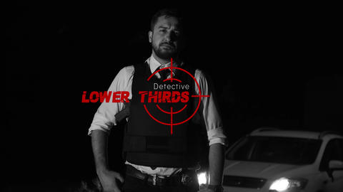 Detective Lower Thirds After Effects Template