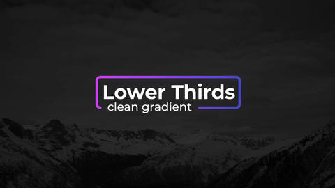 Gradient Lower Thirds Motion Graphics Template
