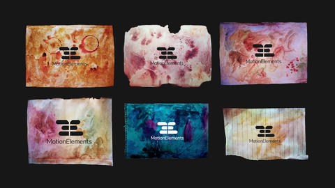 Stained Paper. Logo & Titles Premiere Pro Template