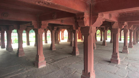 Fatehpur Sikri, India - ancient architecture from the past Live Action