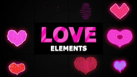 Cartoon Hearts After Effects Template