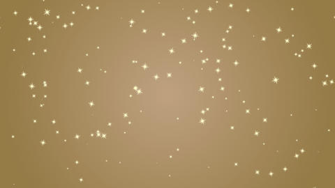Elegant gold background with flashing stars. Festive decorative background for Animation