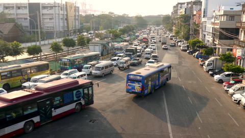 Yangon traffic 2 Live影片