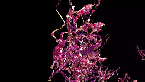 Pink Glittering Garlands Digitally Rendered Animation