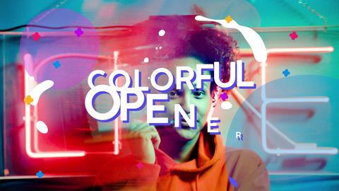 Colorful Opener AE 模板