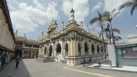 Beautiful Abdul Gaffoor Mosque. with its distinctive architecture. Singapore Footage