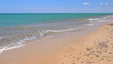 tidal borelight breeze on azure coast Footage